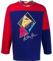 kansai yamamoto pre-owned 1980s embroidered patchwork sweatshirt