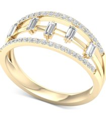 diamond baguette openwork statement ring (1/2 ct. t.w.) in 14k gold