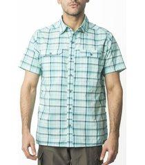 camisa outdoor cuadrillé verde kannú