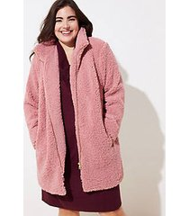 loft plus fleece funnel neck coat