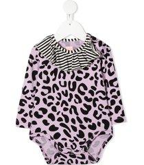 wauw capow by bangbang anna leopard print bodysuit - purple