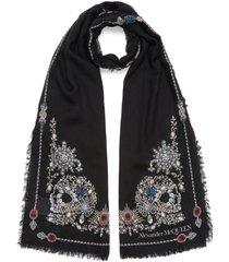 'treasure skeleton' shawl scarf