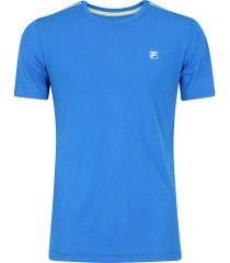 camiseta fila aztec box - masculina - azul/verde cla