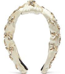 butterfly motif knot velvet headband