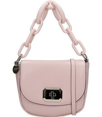 red valentino shoulder bag in rose-pink leather