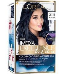 coloração imédia excellence l?oréal paris - ice colors 2.111 azulado