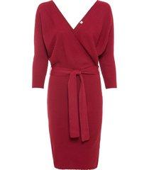 abito in maglia a portafoglio (rosso) - bodyflirt boutique