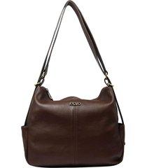 bolsa mochila de couro recuo fashion bag castor