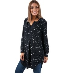 only womens nova lux star print tunic shirt size 12 in blue