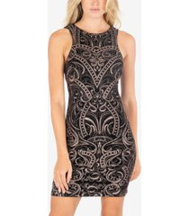 speechless juniors' glitter-printed bodycon dress