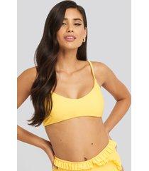 na-kd swimwear bohoo bikini top - yellow