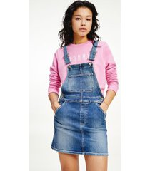 tommy hilfiger women's classic overall dress medium wash - s