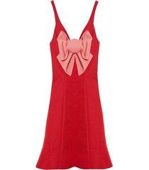 scoop neck bow dress
