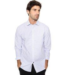 camisa azul tommy hilfiger slim fit multi check