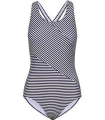 brighton, swimsuit baddräkt badkläder blå abecita