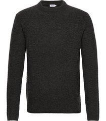 m. tobias sweater gebreide trui met ronde kraag grijs filippa k
