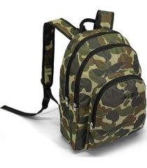 mochila masculina 3 divisões ls mo4145 estampa camuflado