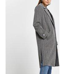 river island womens grey jersey longline duster jacket