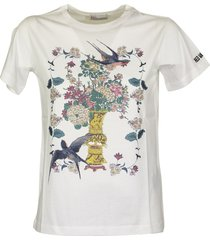 red valentino chinese lacquer printed t-shirt
