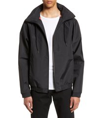 men's vince regular fit track jacket, size xx-large - black