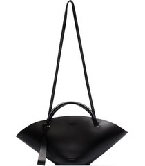 jil sander small sombrero tote bag - black