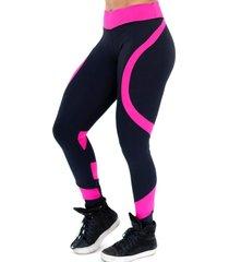 calça legging levanta bumbum - preto e rosa