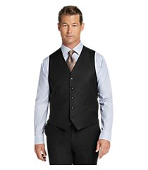 traveler collection tailored fit solid men's suit separates vest - big & tall by jos. a. bank