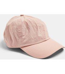 mens pink crinkle nylon cap