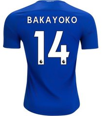 new tiemoue bakayoko #14 chelsea home 17/18 men soccer jersey + epl patches