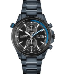 men's boss globetrotter chronograph bracelet watch, 46mm
