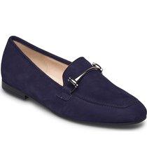 slip-ons loafers låga skor blå gabor