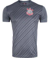 camiseta do corinthians stroke 18 - masculina - cinza escuro