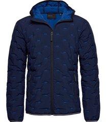 woven quilt jacket fodrad jacka blå superdry