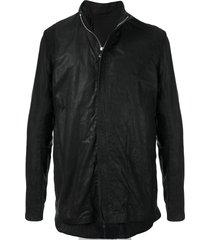 boris bidjan saberi mesh layer leather jacket - black
