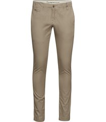 twisted twill chinos chinos byxor beige knowledge cotton apparel