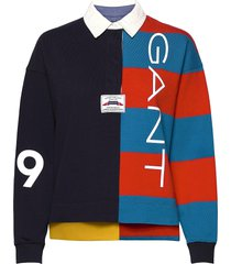 d1. rw color block heavy rugger t-shirts & tops polos blauw gant