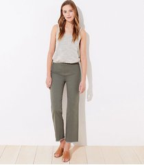 loft frayed high waist flare crop pants