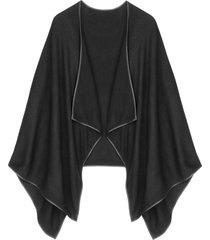 poncho in maglia (nero) - bpc bonprix collection
