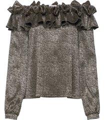 bernice top glitter blouse lange mouwen goud ida sjöstedt