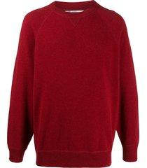 brunello cucinelli long-sleeve sweatshirt - red