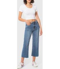 lola jeans high rise wide leg crop denim