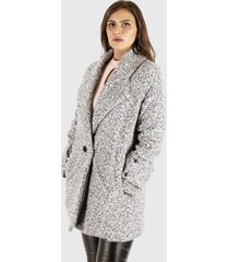 chaqueta ana casual gris truhana