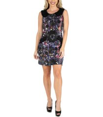 24seven comfort apparel women's sleeveless collared shift dress