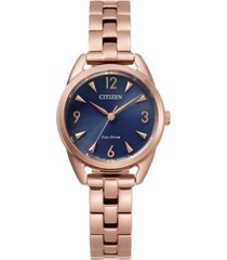 drive from citizen eco-drive women's rose gold-tone stainless steel bracelet watch 27mm