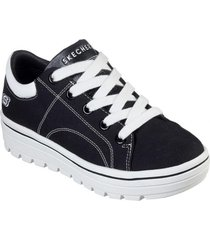 zapatos mujer  street cleat-bring it back negro skechers