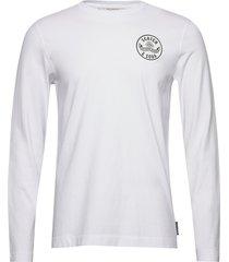 organic cotton longsleeve tee with chest artwork t-shirts long-sleeved vit scotch & soda