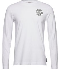 organic cotton longsleeve tee with chest artwork t-shirts long-sleeved vit scotch & soda