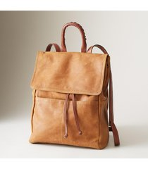 leather simplicity backpack