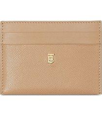 burberry monogram motif leather card case - neutrals