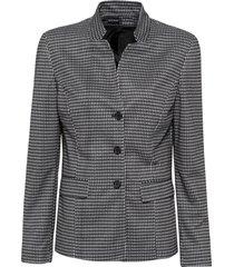 blazer in jersey principe di galles (nero) - bpc selection